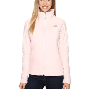 Pale pink dusty grey north face jacket